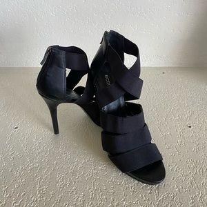 BCBG Black Strappy Heel Size 8